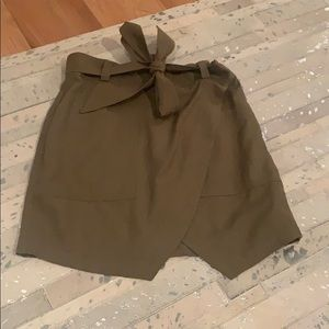 Madewell Green Skirt with Bow